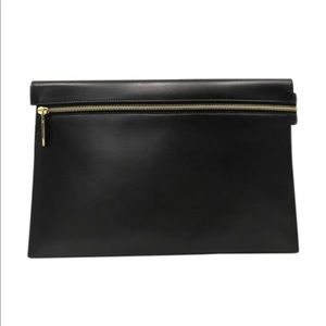 Victoria Beckham Large Calf Leather Zip Pouch NWT